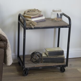 Rogers Wood and Metal Industrial Bar Cart