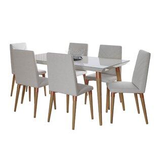 Lemington 7 Piece Solid Wood Dining Set