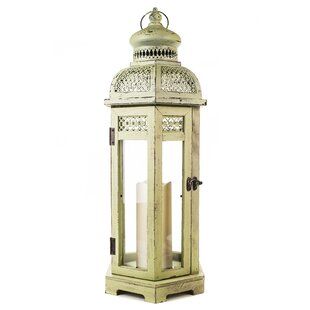 Great Price Wood Flameless Candle Lantern By World Menagerie