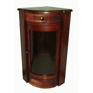 Corner Glass Accent Chest (Set of 2) by D-Art Collection