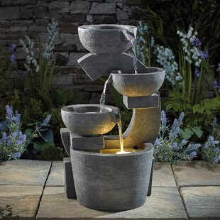Arabelle Resin Bowl Water Feature With LED Light By Sol 72 Outdoor