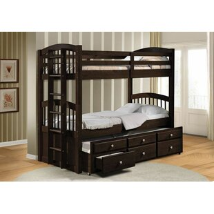 Ealy Twin Over Twin Bunk Bed with Trundle and Drawers