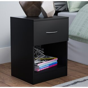 Best Reviews Remillard Standard 1 Drawer Nightstand by Latitude Run