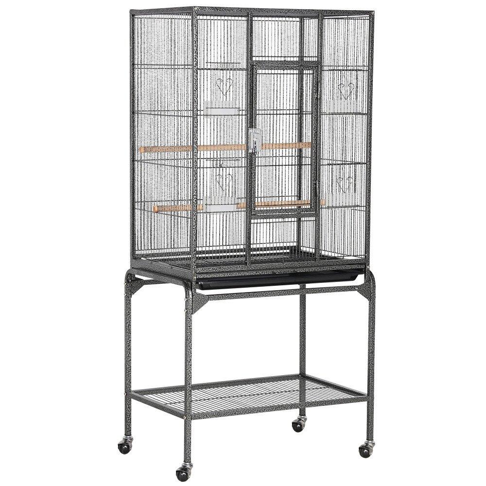 Tucker Murphy Pet Setzer Wrought Iron Rolling Large Bird Cage With Wheels Reviews Wayfair