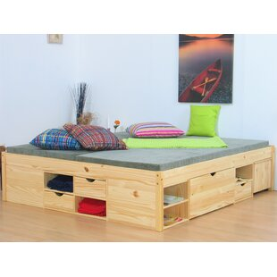 Agatha European Double Storage Bed By Natur Pur