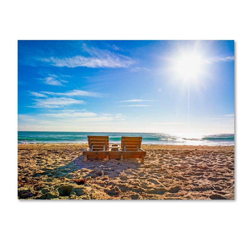 U0027Florida Beach Chairu0027 Photographic Print On Wrapped Canvas. U0027