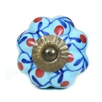 Floral Design Cabinet Ceramic Novelty Knob