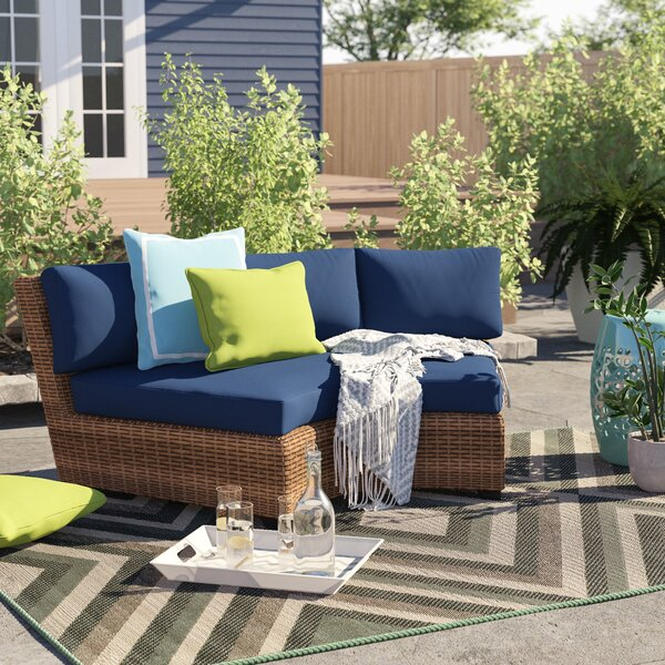 Peachy Small Curved Outdoor Sofa Wayfair Cjindustries Chair Design For Home Cjindustriesco