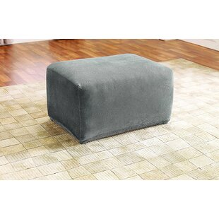 Stretch Pique Oversized Ottoman Slipcover