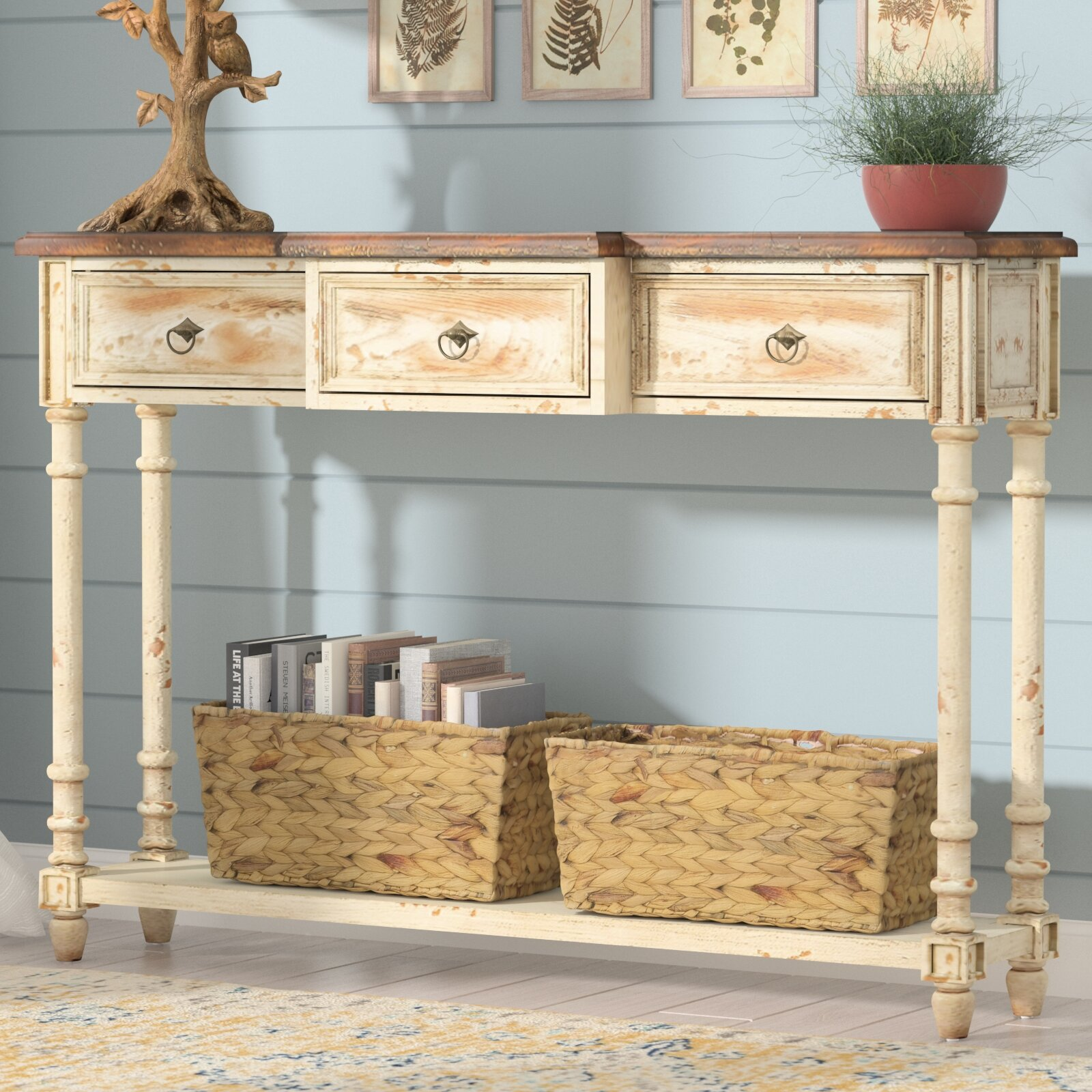 Cool Preusser 3 Drawer Console Table Interior Design Ideas Oxytryabchikinfo