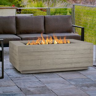 Real Flame Board Form Concrete Propane/Natural Gas Fire Pit Table