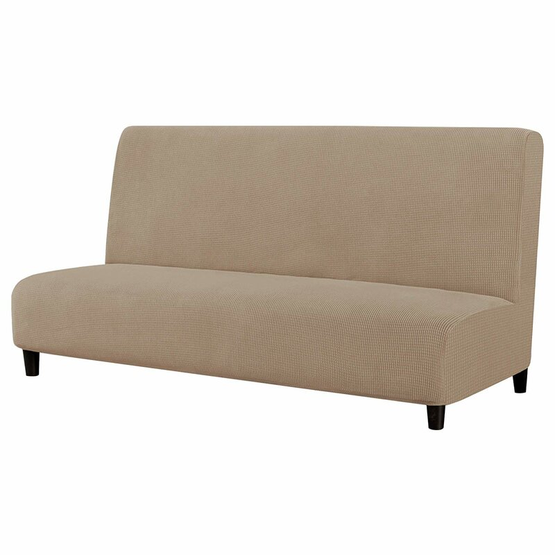 Futon Mattress Sofa Covers Couch Full Size Bed Washable With Hidden Zipper Cream