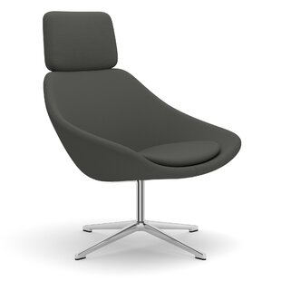 Open Swivel Lounge Chair with Headrest on 4 Star Base by Allermuir