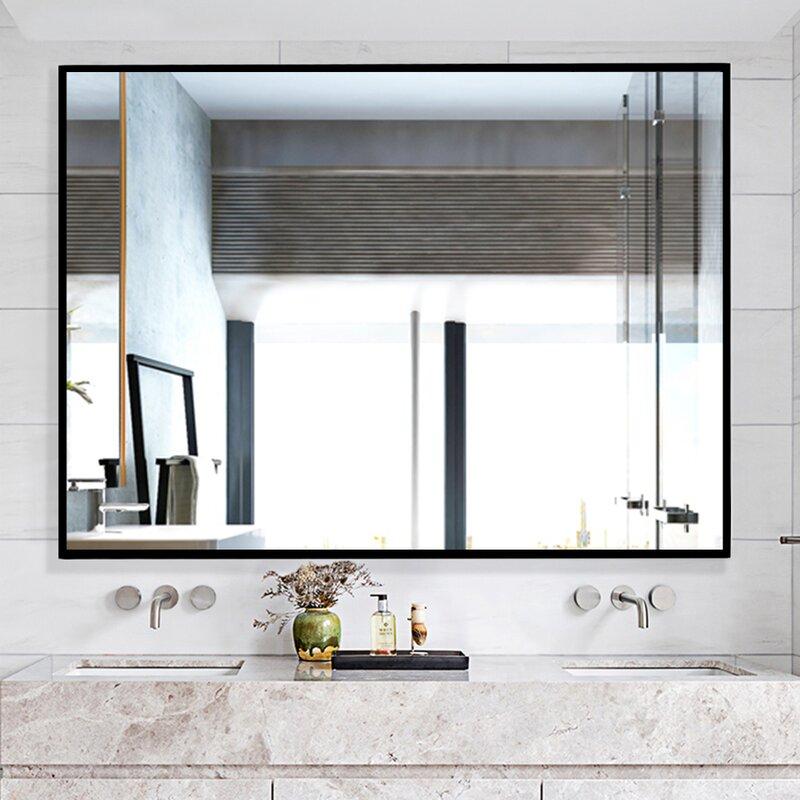 Wrought Studio Manish Bathroom Vanity Mirror Reviews Wayfair