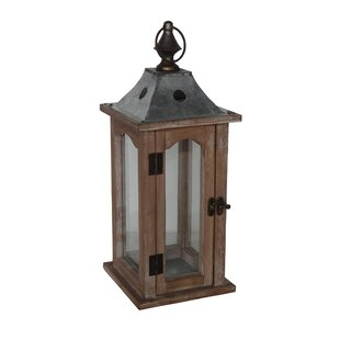Wood/Glass/Metal Lantern
