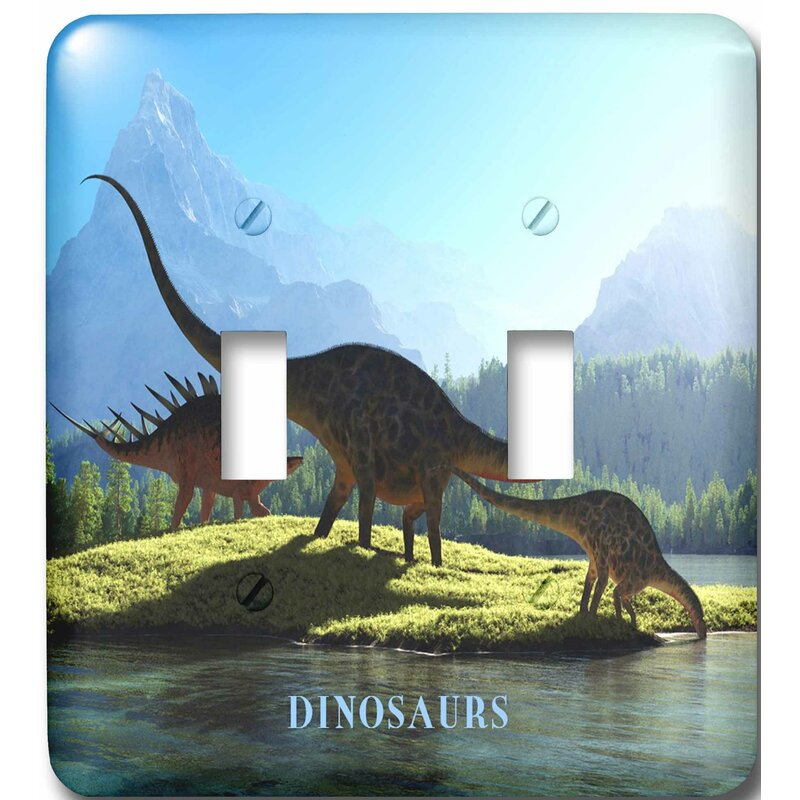 3drose When Dinosaurs Roamed The Earth 2 Gang Toggle Light Switch Wall Plate Wayfair
