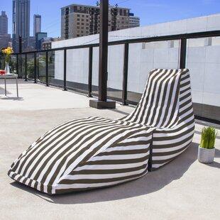 Prado Outdoor Striped Bean Bag Chaise Lounge Chair by Jaxx