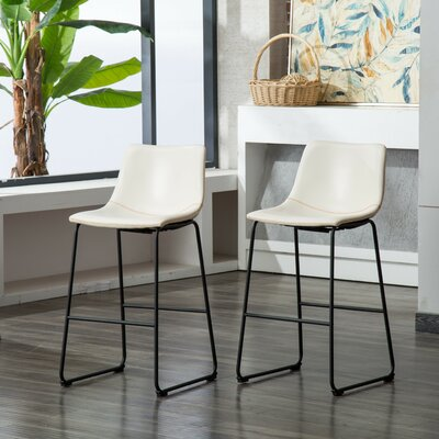 Outstanding Trent Austin Design Bamey 39 Inch Bar Stool Upholstery White Machost Co Dining Chair Design Ideas Machostcouk