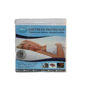 Basic Hypoallergenic Waterproof Mattress Protector by BTI