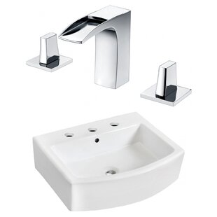 Bargain Ceramic 22 Bathroom Sink with Faucet and Overflow ByRoyal Purple Bath Kitchen