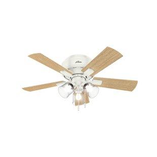 42 Crestfield 5 Blade Ceiling Fan, Light Kit Included by Hunter Fan