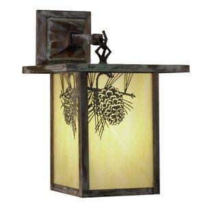 Yerkes Winter Pine Outdoor Wall Lantern b..