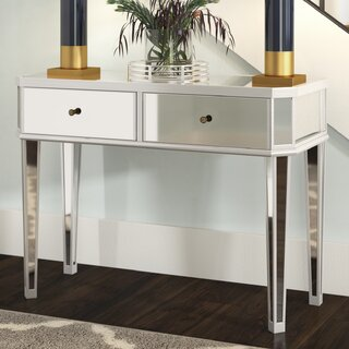 Alrai Mirrored Console Table by Willa Arlo Interiors SKU:CC934883 Order