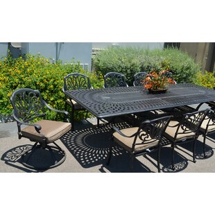 Kristy 11 Piece Dining Set with Cushions