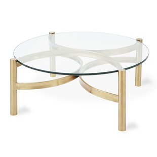 Glass Coffee Table With Stainless Steel Legs Perigold
