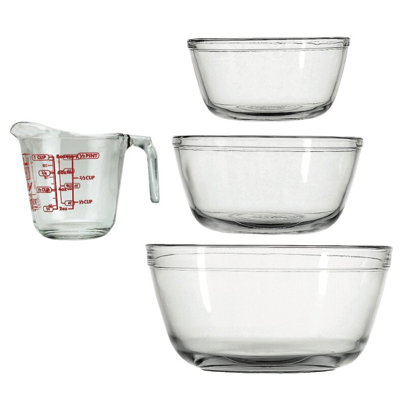 Anchor 4 Piece Glass Measuring Set