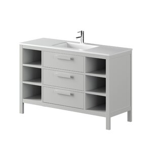Nakagawa Solid Pine 1200mm Free-standing Single Vanity Unit By 17 Stories