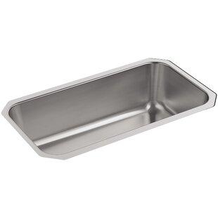 Undertone Large Under-Mount Single-Bowl Kitchen Sink by Kohler