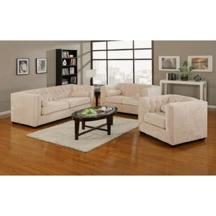 Purchase Kulick 3 Piece Living Room Set by House of Hampton Reviews (2019) & Buyer's Guide