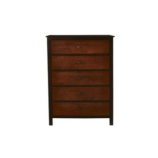 Bynum 5 Drawer Chest by Millwood Pines Savings