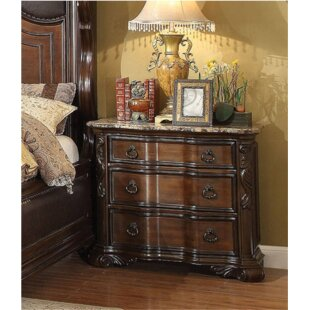 Trevin 3 Drawer Nightstand by House of Hampton