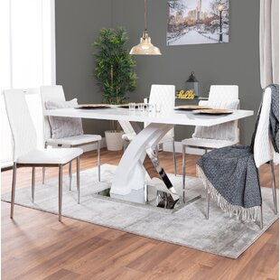 Utrecht Dining Set With 6 Chairs By Wade Logan