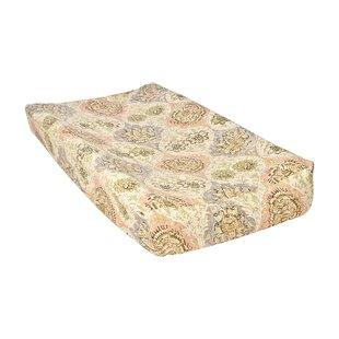 Price comparison Rosewater Glam Damask Changing Pad Cover By Trend Lab