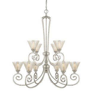 House of Hampton Ritchie 10-Light Shaded Chandelier