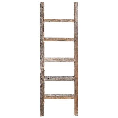 Wood 4 ft Blanket Ladder Rustic Decor