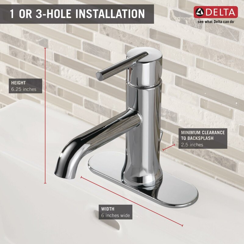 6 inch centerset bathroom faucet. Trinsic  Bathroom Single hole Faucet with Drain Assembly and Diamond Seal Technology Delta
