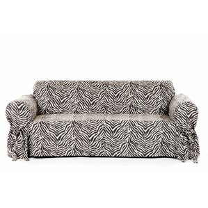 Zebra Print Box Cushion Sofa Slipcover by Classic Slipcovers
