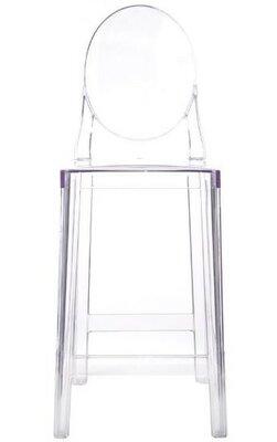 rosann transparent bar stool set of 2