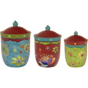 Ohlman 3 Piece Kitchen Canister Set