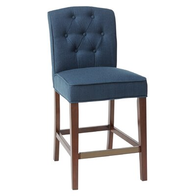Peachy Three Posts Cayman 40 Bar Stool Upholstery Navy Gmtry Best Dining Table And Chair Ideas Images Gmtryco