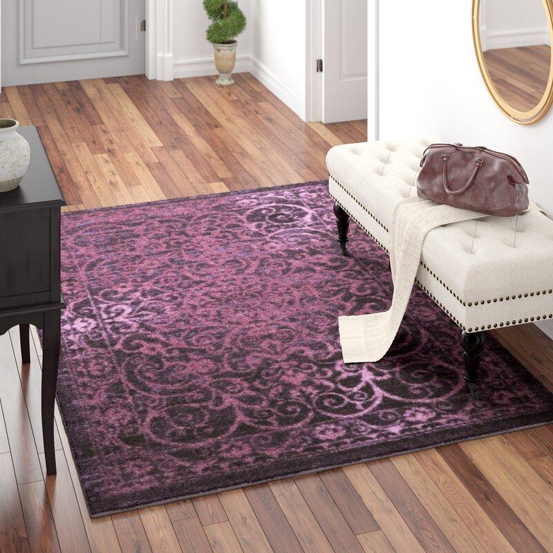 Merveilleux Landen Purple Area Rug