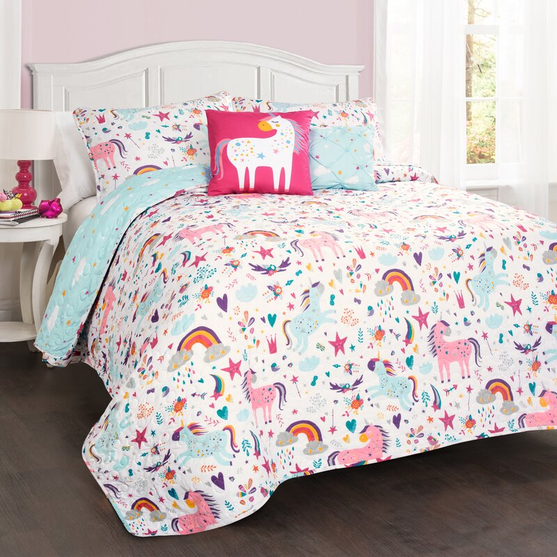 Galaxy Quilted Bedspread /& Pillow Shams Set Inspiring Starway View Print