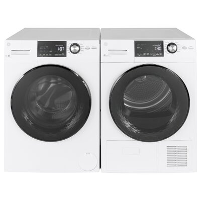 2.4 Cu. Ft. Front Load Washer and 4.3 Cu. Ft. Electric Dryer GE Appliances