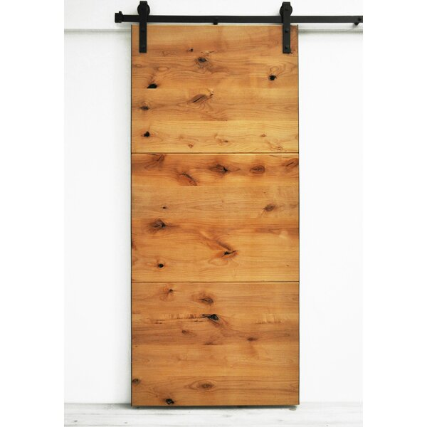Dogberry Collections Modern Slab Wood 1 Panel Interior Barn Door U0026 Reviews  | Wayfair