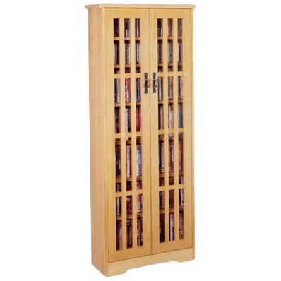 Andover Mills Jones Glass Door Tall Multimedia Storage Cabinet