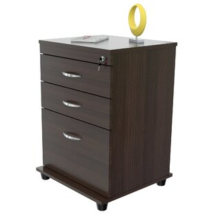 Foy Engineered Wood 3-Drawer Vertical Filing Cabinet